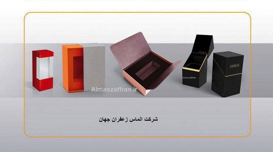 نمونه بسته بندی زعفران صادراتی