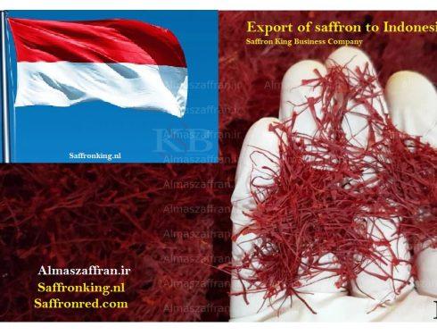 Export of saffron to Indonesia